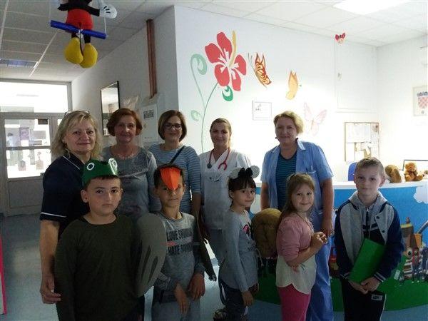 Članovi Dječjeg foruma DND-a posjetili Odjel pedijatrije