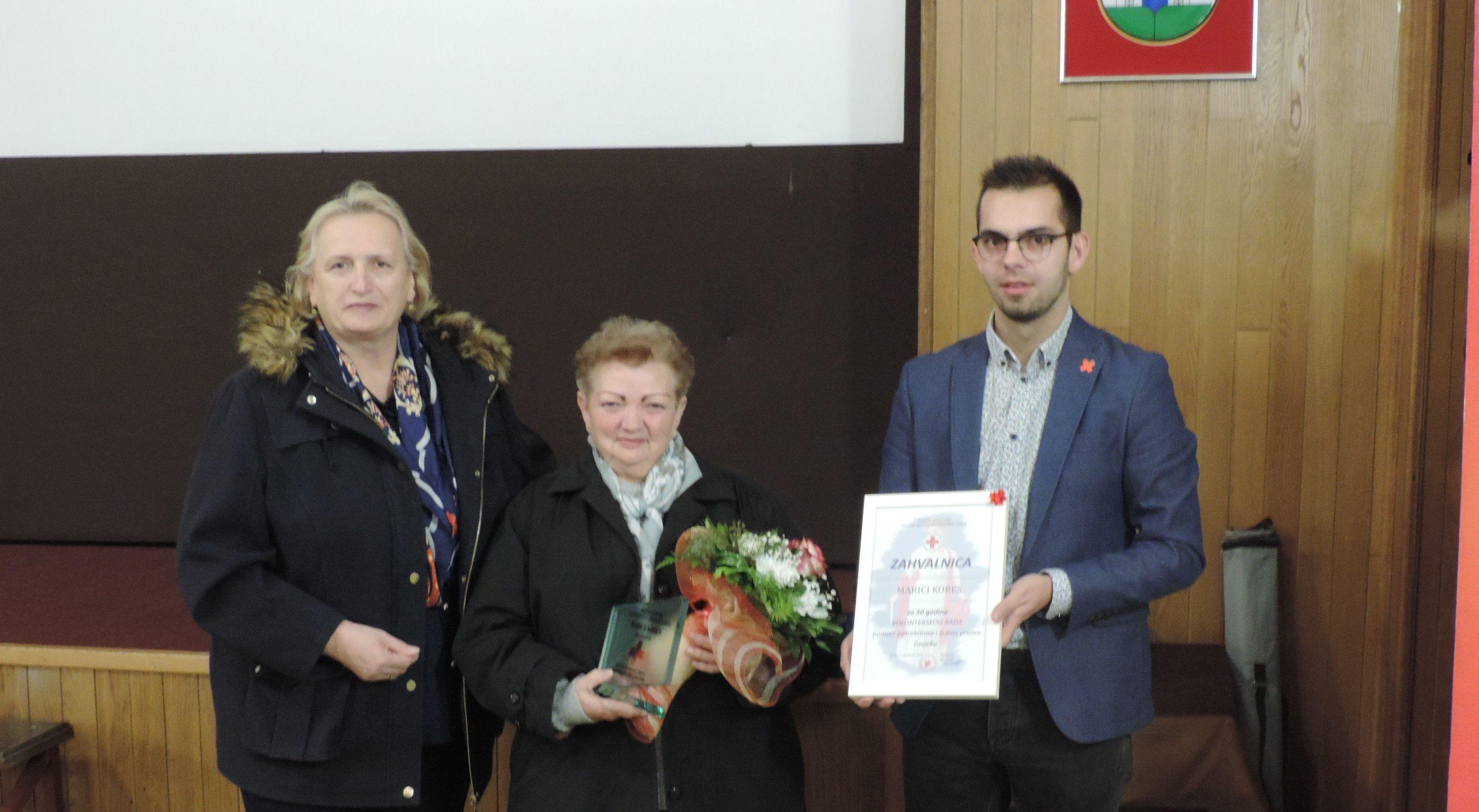 Gđi. Marici Kores dodijeljena plaketa za 50-godišnji volonterski rad