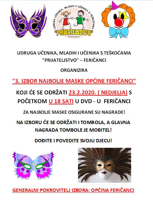 Izbor najbolje maske u Feričancima