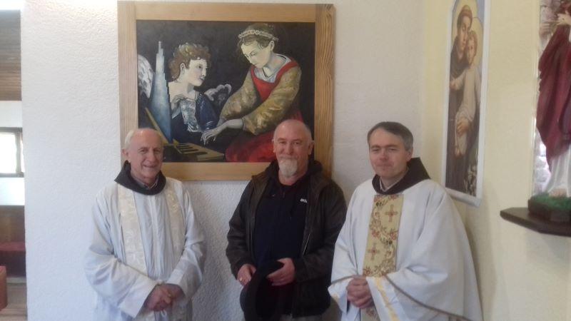 Na misi u Breziku blagoslovljena umjetnička slika – dar Srečka Perkovića