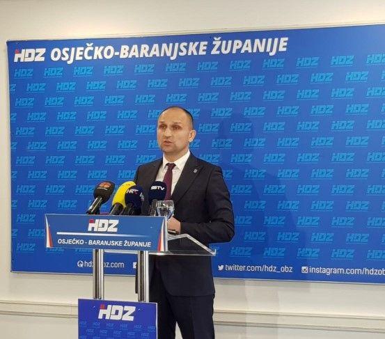 Konferenciju za medije održao potpredsjednik HDZ-a i predsjednik Županijske organizacija HDZ-a Ivan Anušić