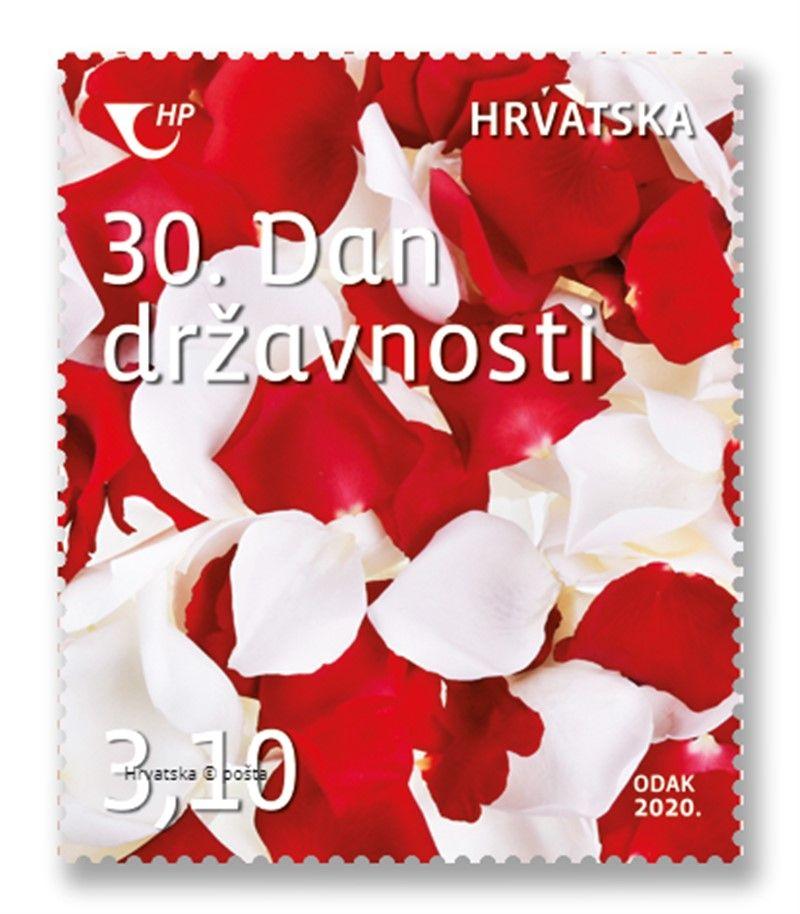 """Prigodna poštanska marka HP """"30.Dan državnosti Republike Hrvatske"""