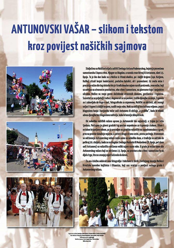 """Izložba """"Antunovski vašari – slikom i tekstom kroz povijest našičkih sajmova"""""""