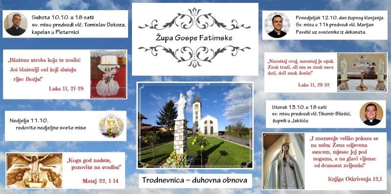 U Velimirovcu započela trodnevna duhovna obnova