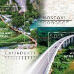 """Poštanske marke iz serije """"Mostovi i vijadukti"""""""