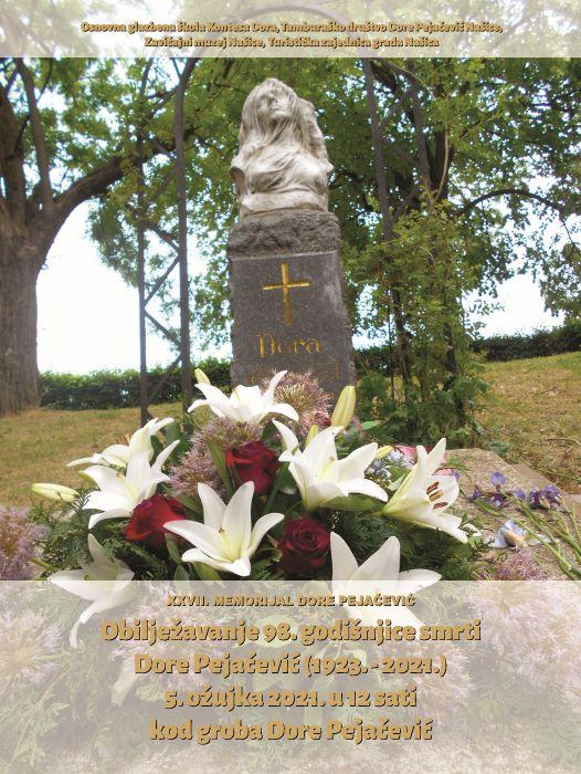 U petak cvijeće i svijeće za Doru Pejačević