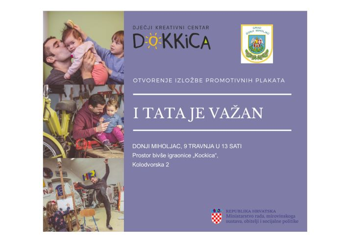 """Izložba promotivnih plakata """"I TATA JE VAŽAN"""""""