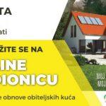 Virtualna radionica o dodjeli bespovratnih sredstava za energetsku obnovu obiteljskih kuća i zgrada